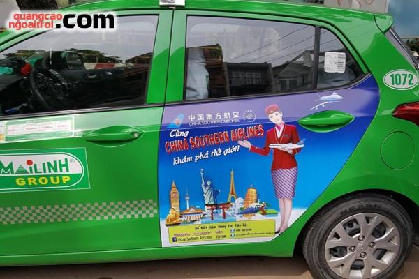 dự án quảng cáo trên taxi của China Southern Airlines
