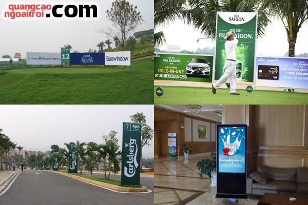 tất tần tật về quảng cáo trên sân tập chơi golf