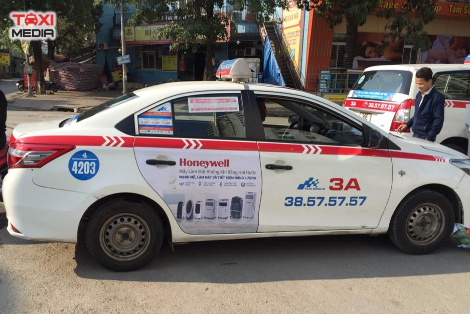 Honeywell quảng cáo trên taxi Group tại Hà Nội