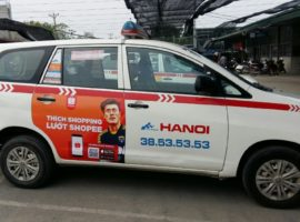 dự án quảng cáo trên taxi của Shopee