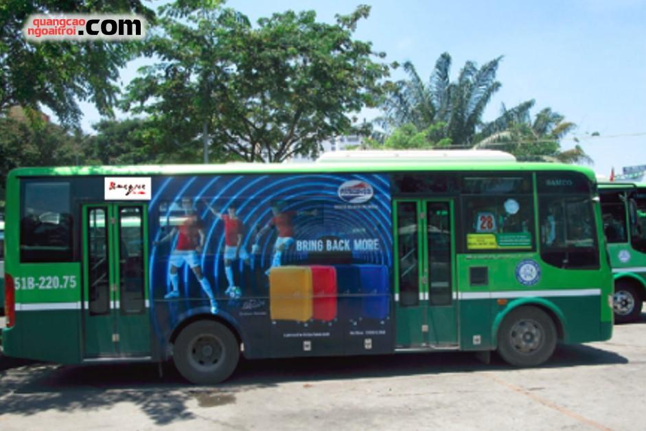 dán quảng cáo trên xe bus