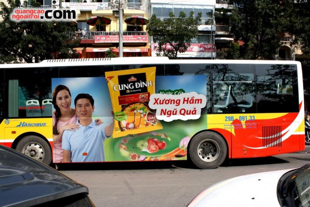 dán quảng cáo tràn kính xe bus hà nội