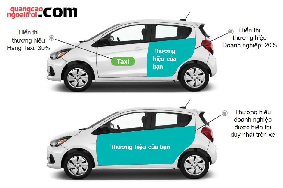 quảng cáo trên xe grab uber