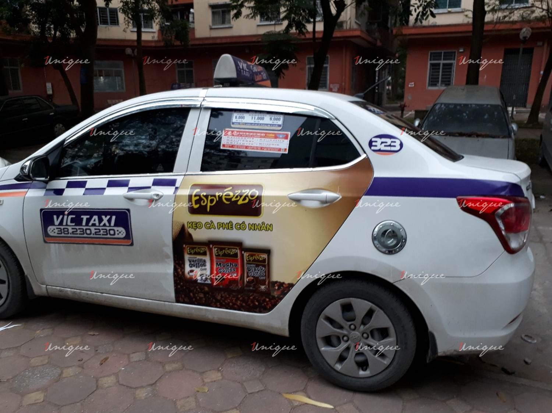 Quảng cáo trên VIC taxi tại Hà Nội