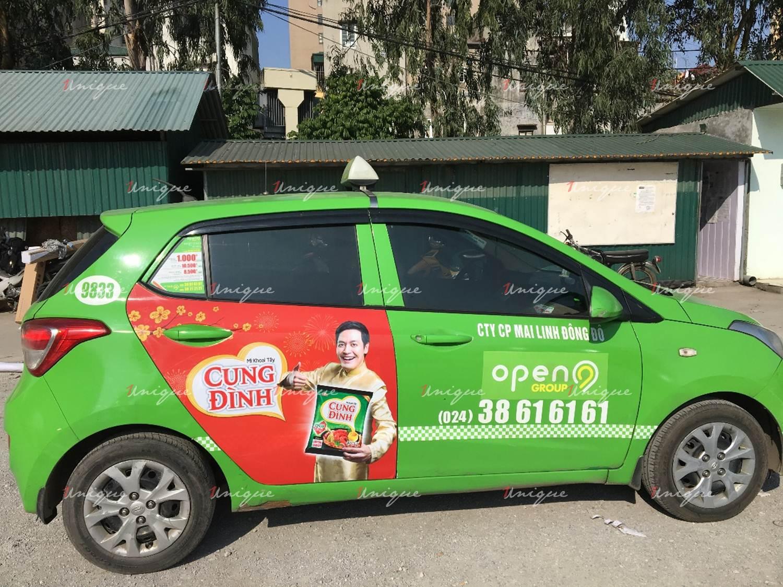 Quảng cáo trên taxi Open 99 tại nhiều tỉnh thành