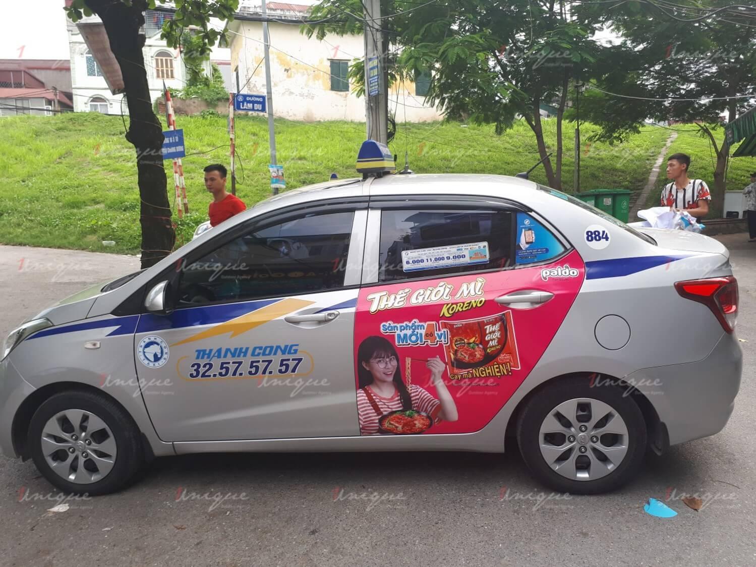 Quảng cáo trên taxi Thành Công