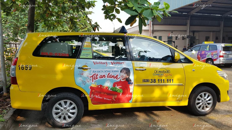Quảng cáo trên VinaTaxi tại Sài Gòn và các tỉnh Nam Bộ