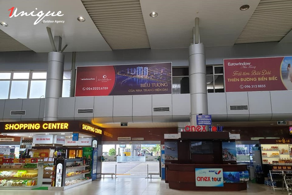 quảng cáo lightbox sân bay