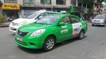 quảng cáo trên xe taxi tại Long An
