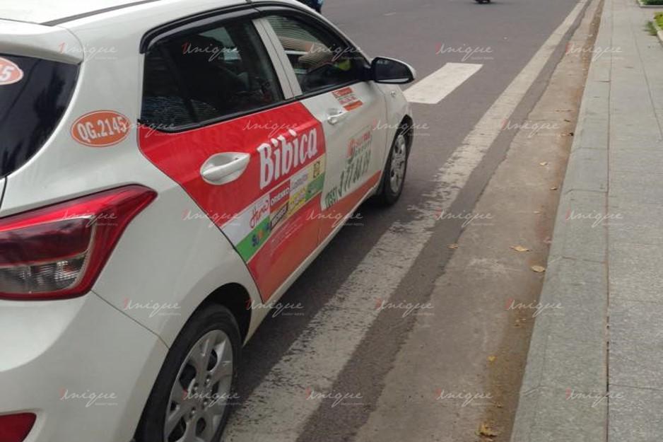 quảng cáo trên xe taxi tại Quảng Ngãi