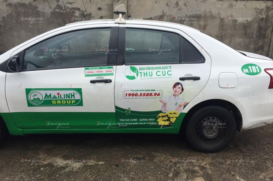 quảng cáo trên xe taxi tại quảng ninh
