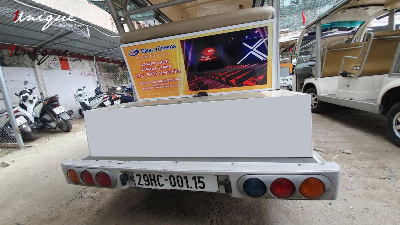 chiến dịch quảng cáo trên xe điện của galaxy cine