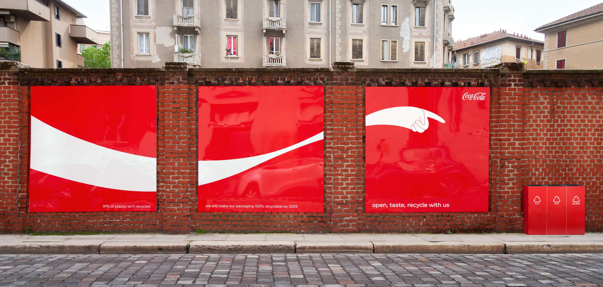 bảng quảng cáo bảo vệ môi trường của Coca Cola