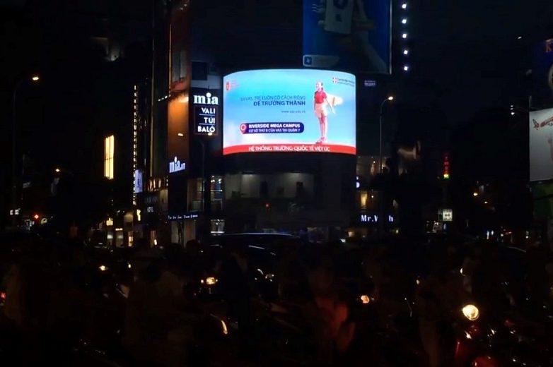 màn hình Led quảng cáo ngoài trời tại số 2 Nguyễn Trãi - vòng xoay ngã 6 Phù Đổng
