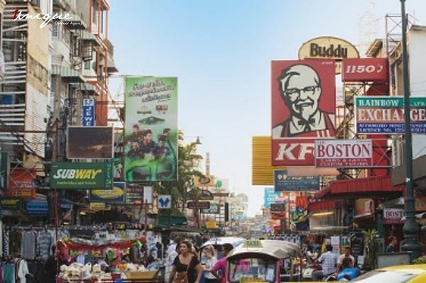 quảng cáo ngoài trời tại Thái Lan