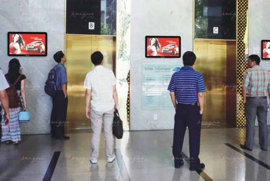 quảng cáo lcd frame thang máy
