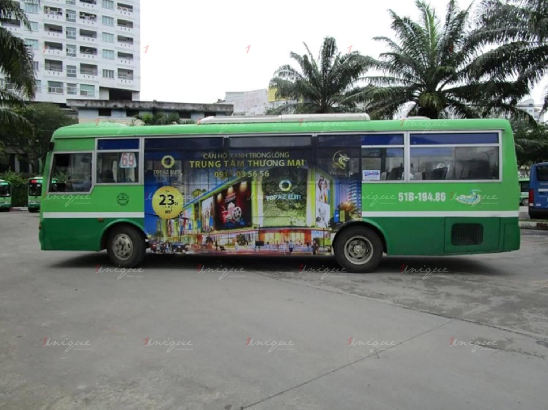 quảng cáo xe buýt cho vạn thái land