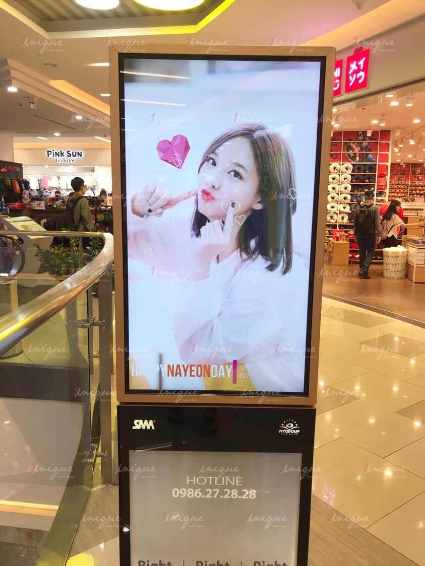 Chiến dịch quảng cáo màn Led chúc mừng sinh nhật Nayeon