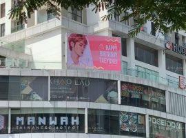 Taeyoung NCT quảng cáo màn hình led ngoài trời