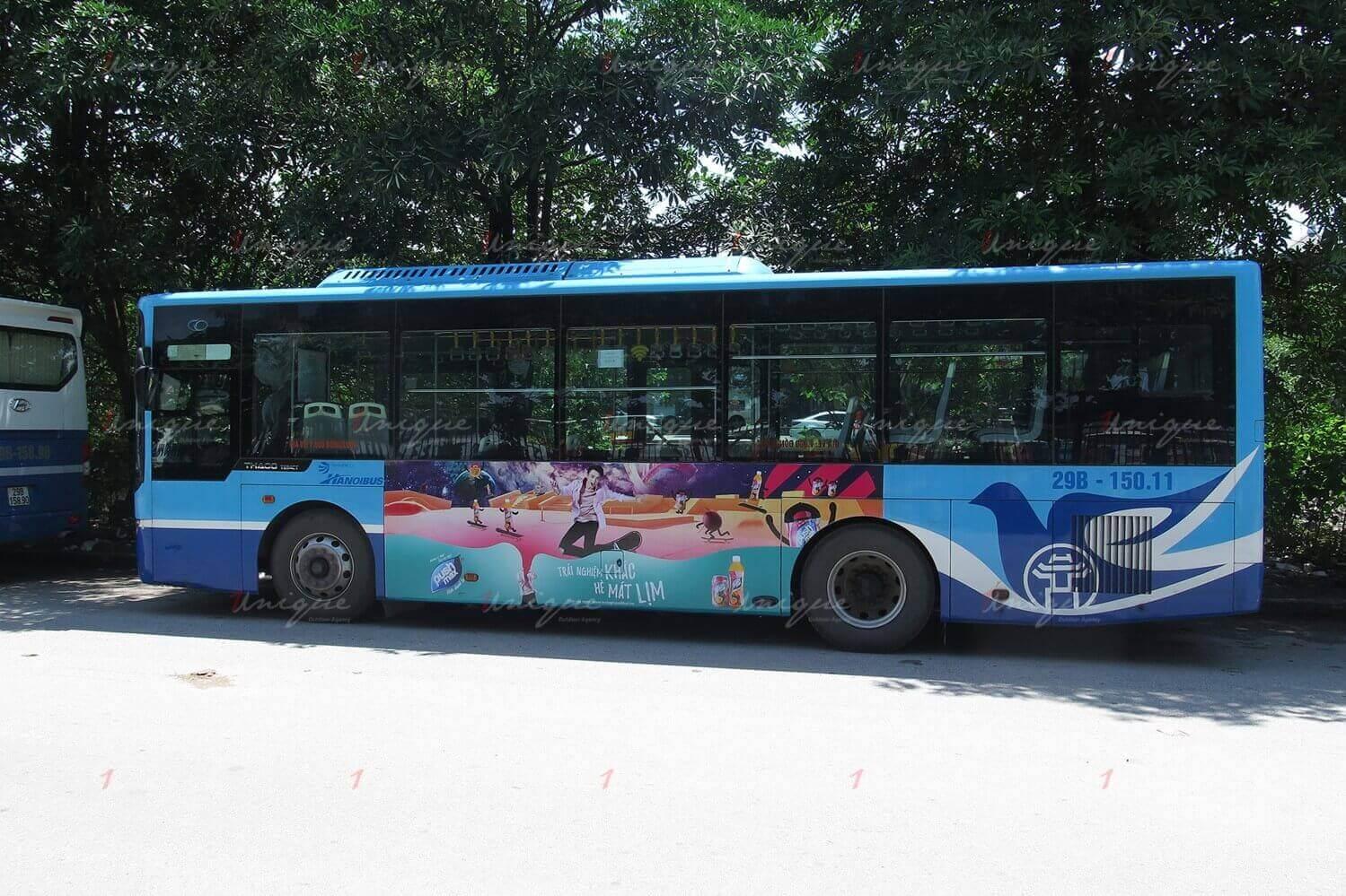 quảng cáo xe buýt cho pushmax