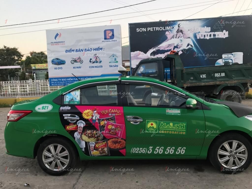 Chiến dịch quảng cáo trên taxi cho mì Koreno Volcano