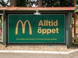 McDonald's Thụy Điển xây khách sạn cho ong từ biển quảng cáo ngoài trời