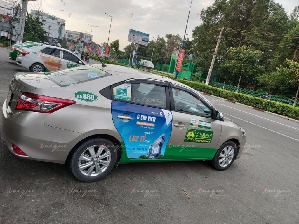 Chiến dịch quảng cáo trên taxi của C-Skyview