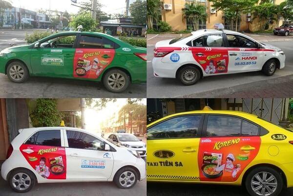 Chiến dịch quảng cáo taxi Koreno tại nhiều tỉnh thành