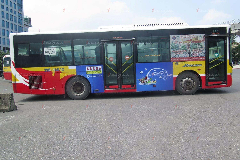 fpt quảng cáo trên xe buýt