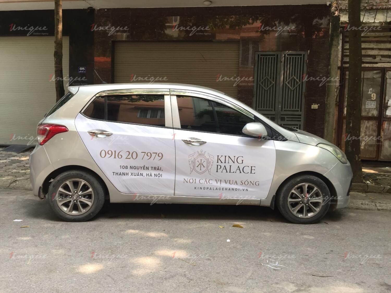Chiến dịch quảng cáo trên ô tô của King Palace