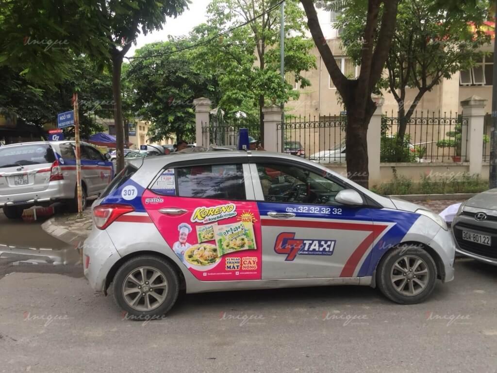 Chiến dịch quảng cáo trên taxi của Koreno