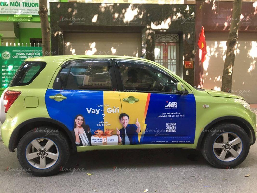 Chiến dịch quảng cáo trên ô tô của MBBank