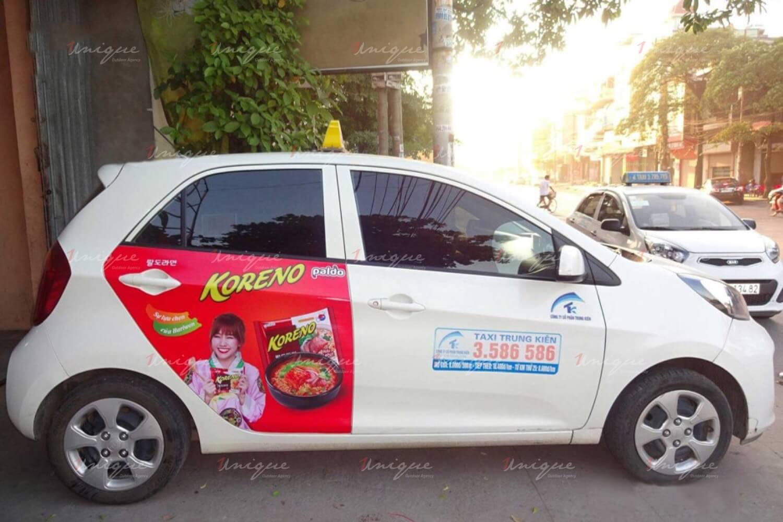 Chiến dịch quảng cáo trên taxi của Koreno tại nhiều tỉnh thành