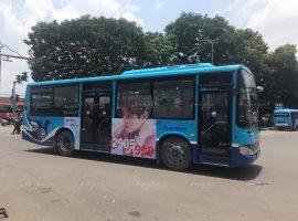 quảng cáo xe buýt cho ji hoon