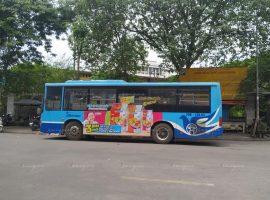 quảng cáo xe buýt cho mỳ koreno jumbo