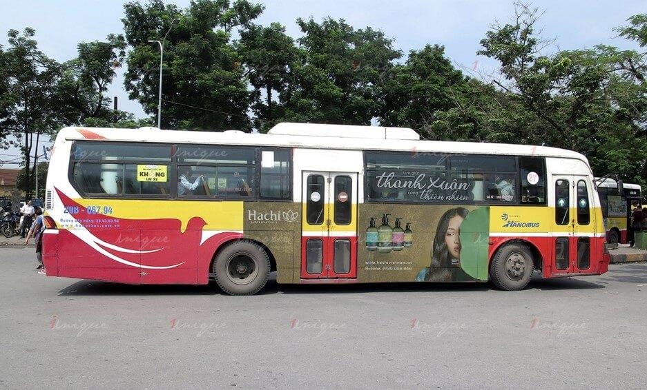 quảng cáo xe buýt cho hachi