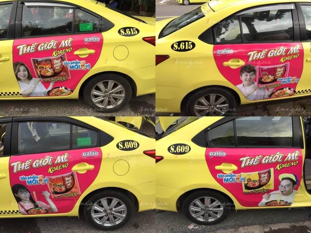Chiến dịch quảng cáo trên taxi của Thế giới mì Koreno