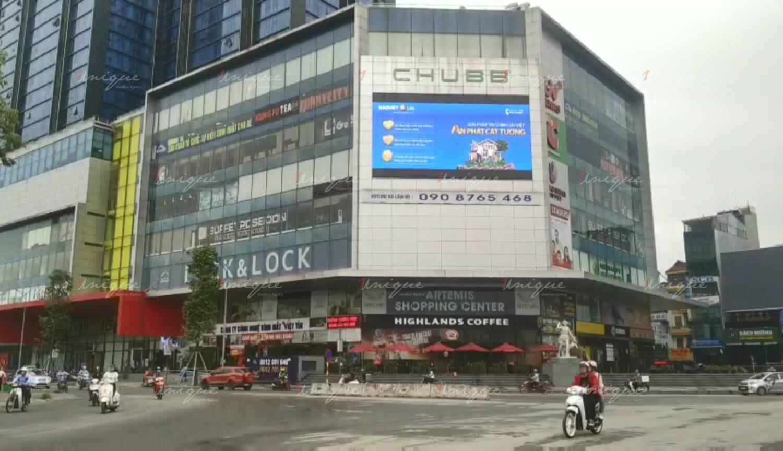 Màn hình Led quảng cáo ngoài trời tại trung tâm thương mại Artemis