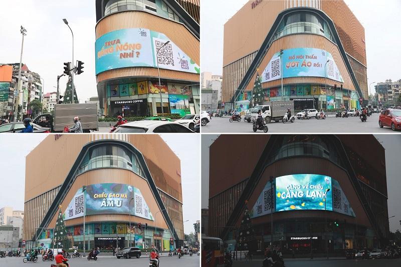 Billboard quảng cáo cập nhật thời tiết đầy sáng tạo của OMO Matic