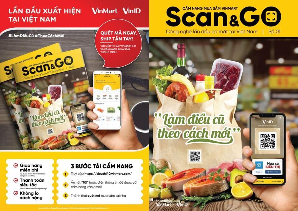 quảng cáo pano cho vinmart scan&go