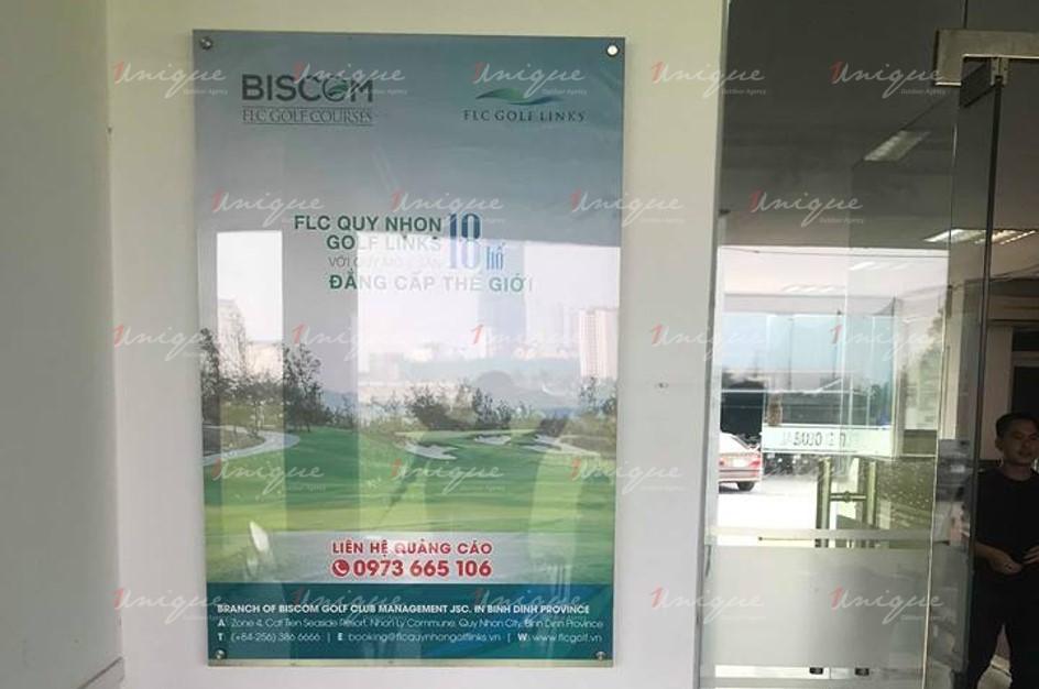 Quảng cáo trên sân tập Golf FLC Goflnet