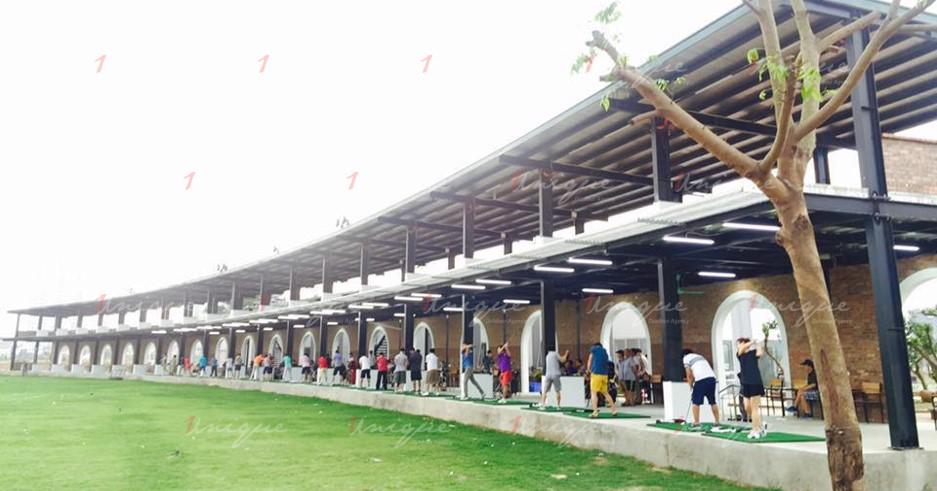Quảng cáo trên sân tập Golf Hà Đông