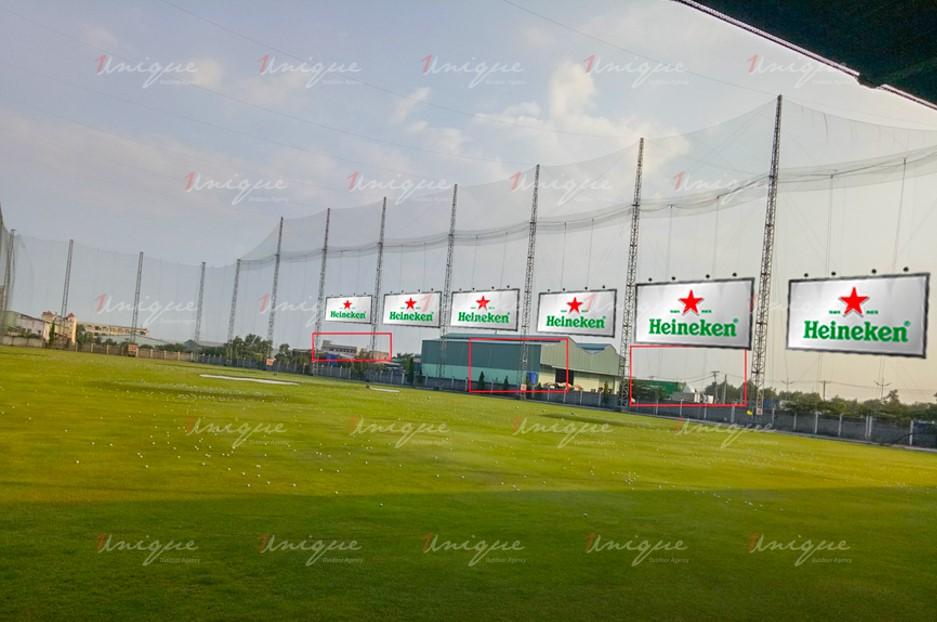 Quảng cáo trên sân tập Golf Happy