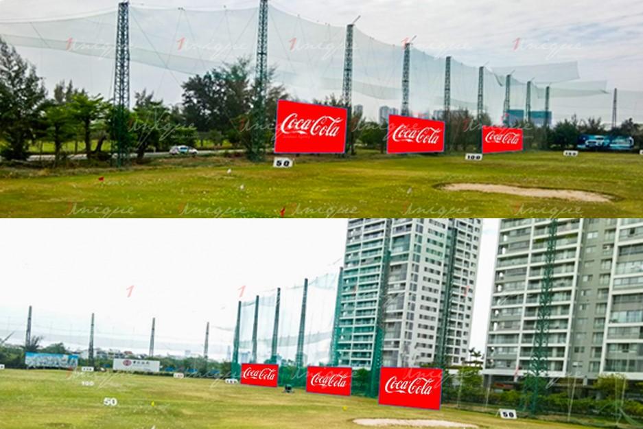 Quảng cáo trên sân tập Golf Nam Sài Gòn
