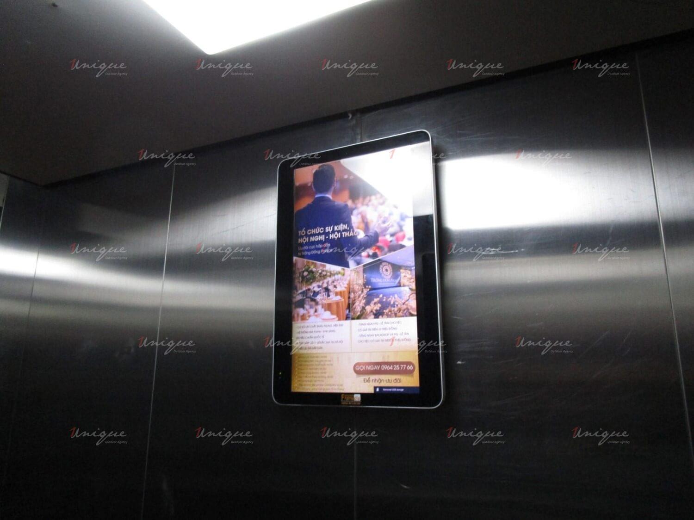 Trống Đồng Palace quảng cáo Frame thang máy