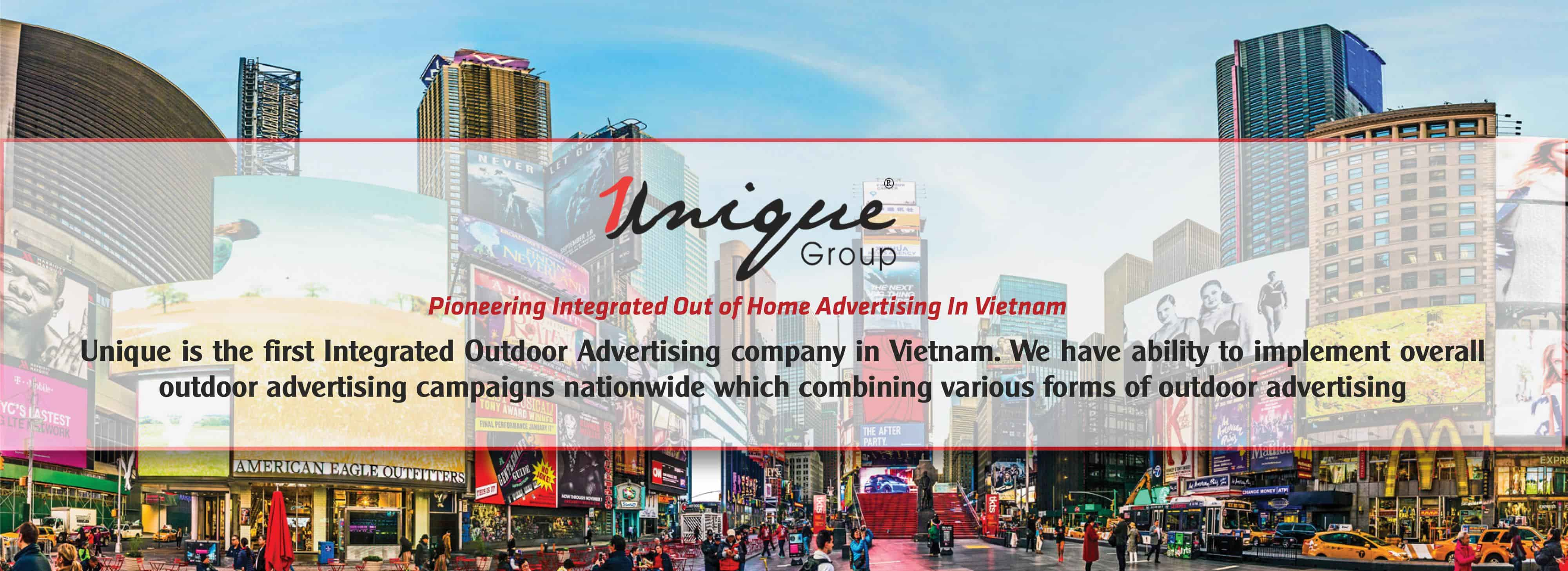banner giới thiệu Unique Outdoor Advertising