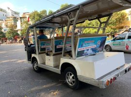quảng cáo xe điện cho thiên đường bảo sơn