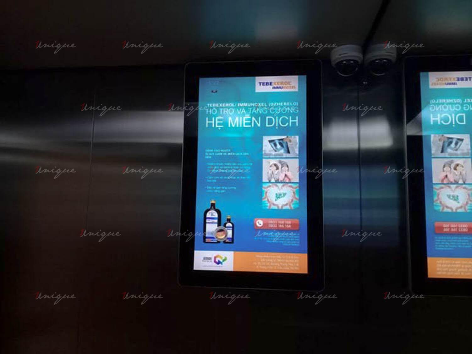 IEC quảng cáo màn hình frame