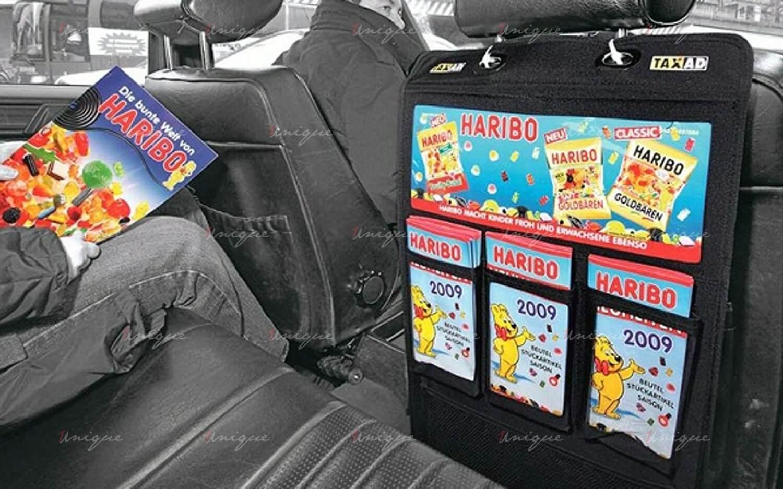 quảng cáo tờ rơi trên xe taxi