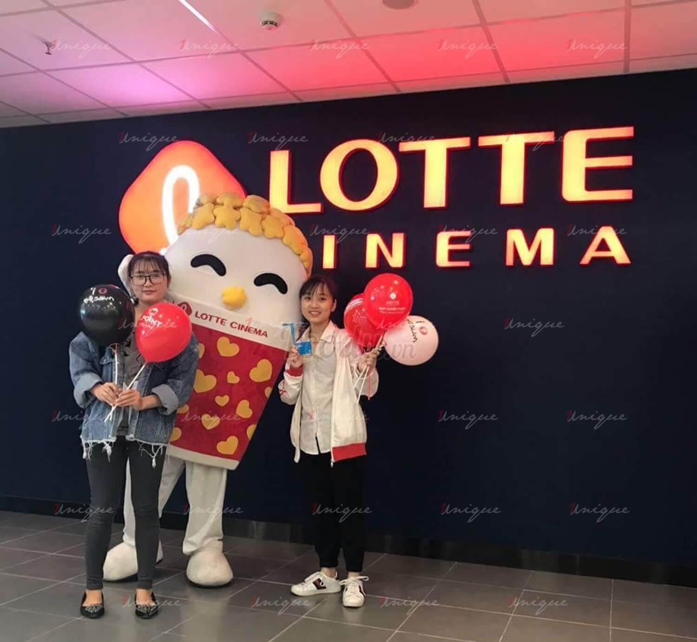 quảng cáo tại rạp chiếu phim Lotte Cinema
